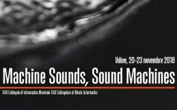 MACHINE SOUNDS, SOUND MACHINES – CIM 2018