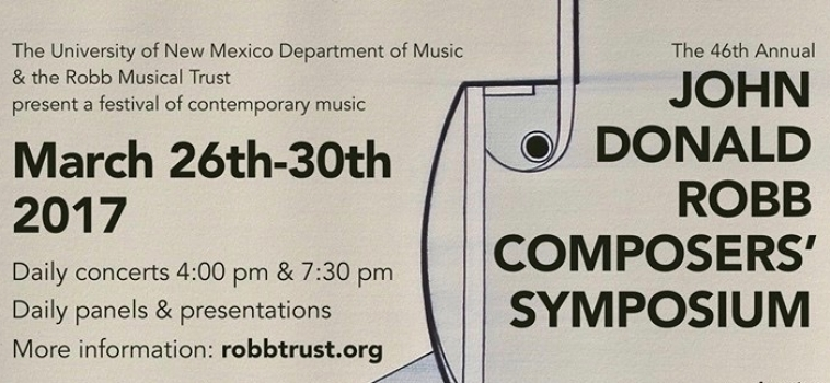 DONALD ROBB COMPOSERS' SYMPOSIUM 2017